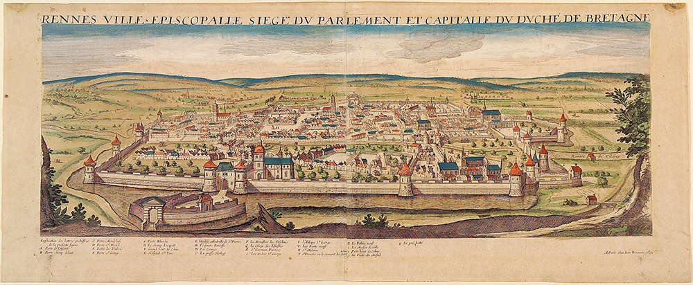 Rennes ville épiscopale siège du parlement et capitale du duché de Bretagne