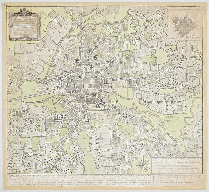 Plan de Rennes et ses faubourgs 1782