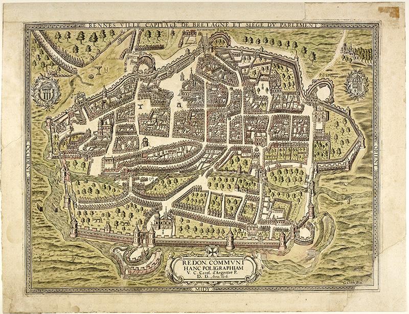 La ville de Rennes en 1616